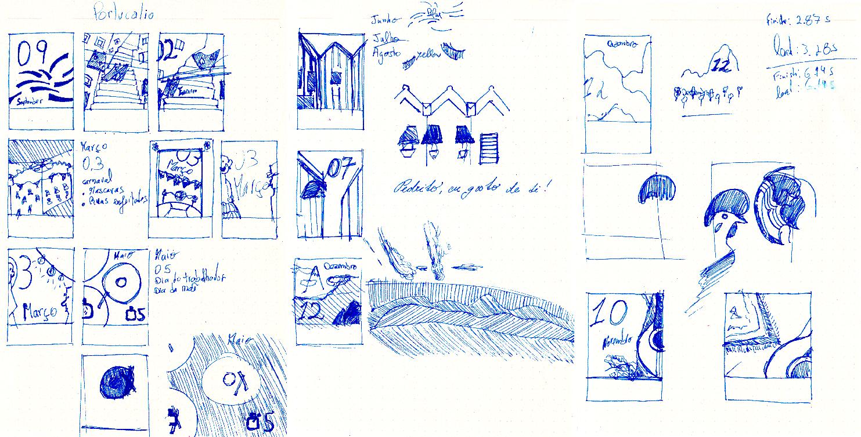 Few sketches were drawn by hand